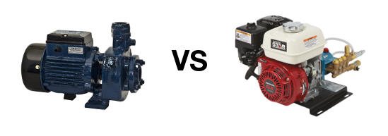 Electric vs Gas Power Washer Motor