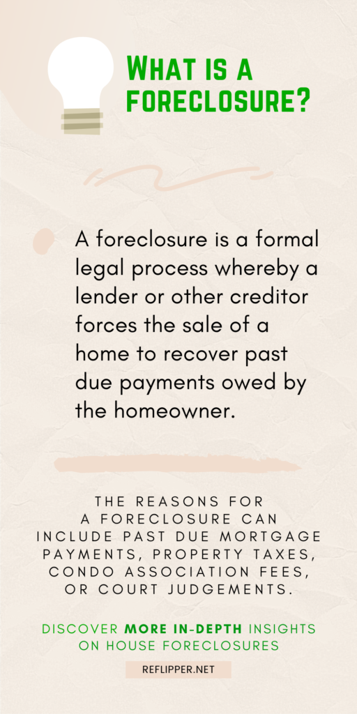 """An infographic that answers, """"What is a foreclosure?"""""""